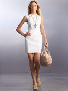 White Sheath Dress