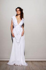 White Sheath Wedding Dress