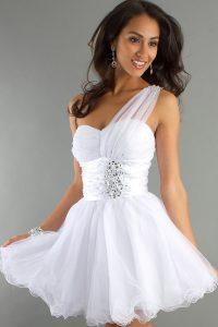 White Short Cocktail Dresses
