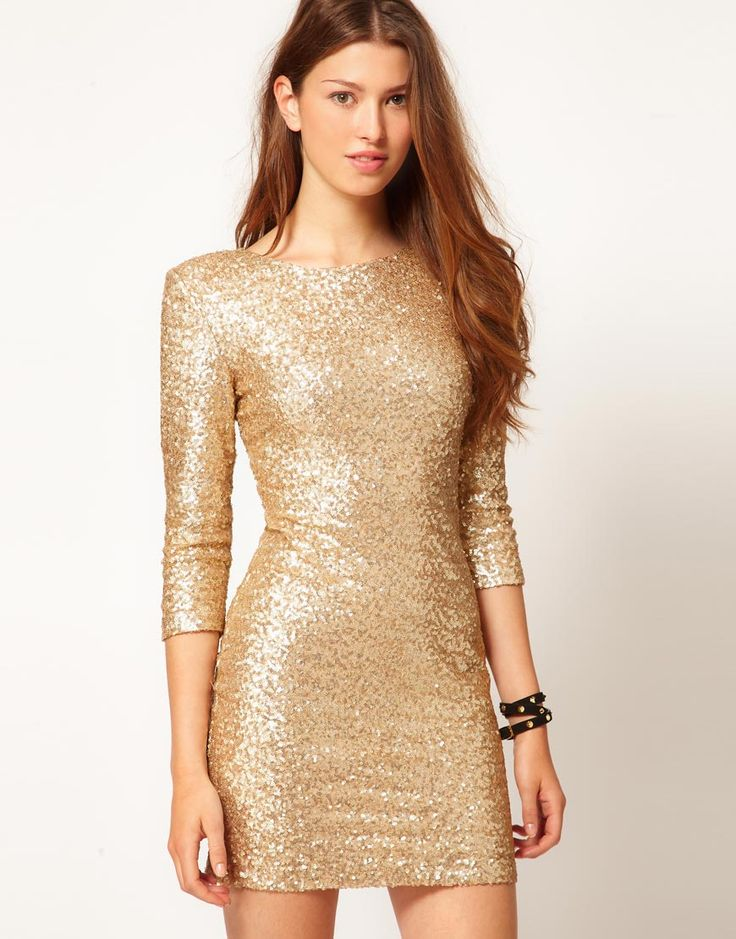 Gold Sequin Dress | Dressed Up Girl