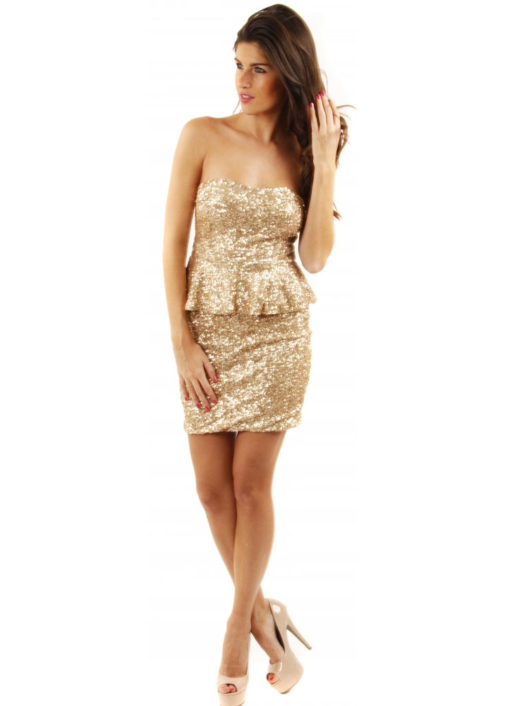 Where to buy gold sequin dress