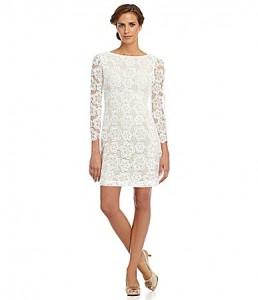 Lace Long Sleeve Sheath Dress