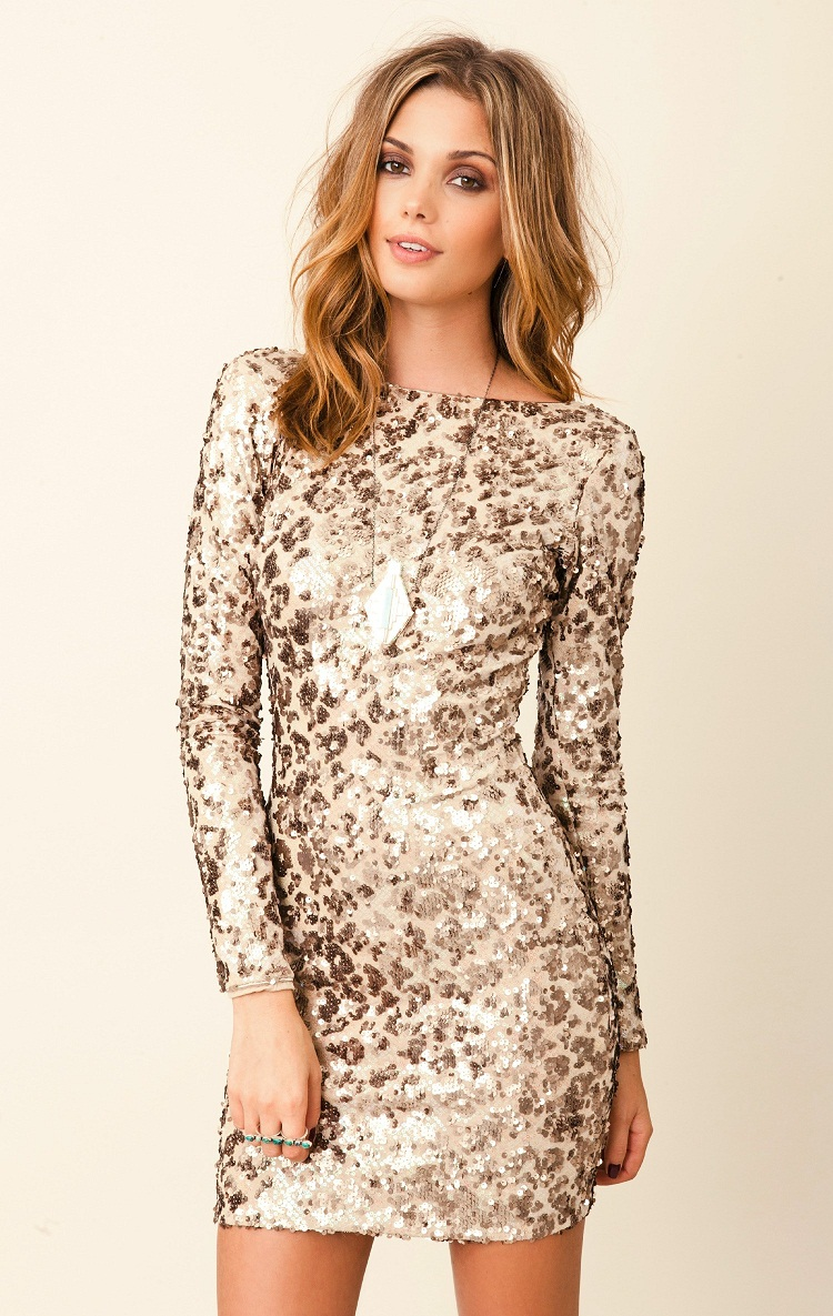 Gold Sequin Dress | Dressed Up - 316.0KB