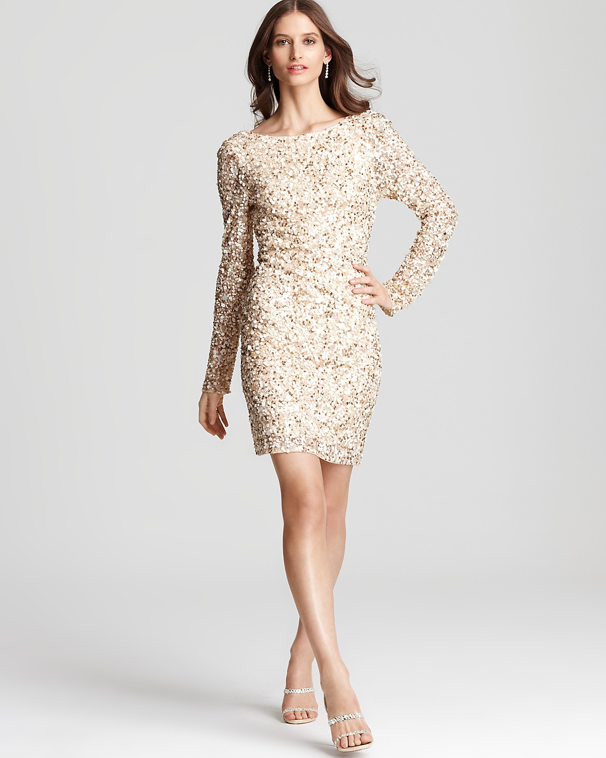 Long Sleeve Sequin Dress - Dressed Up Girl