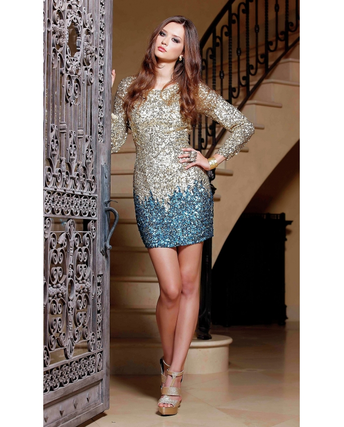 Long Sleeve Sequin Dress  Dressed Up Girl