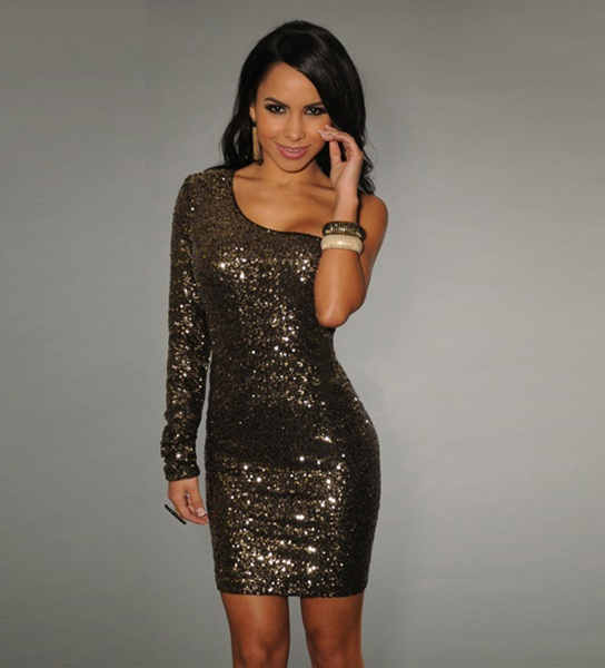 Long Sleeve Sequin Dress Picture Collection