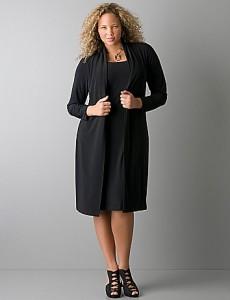 Plus Size Black Sheath Dress