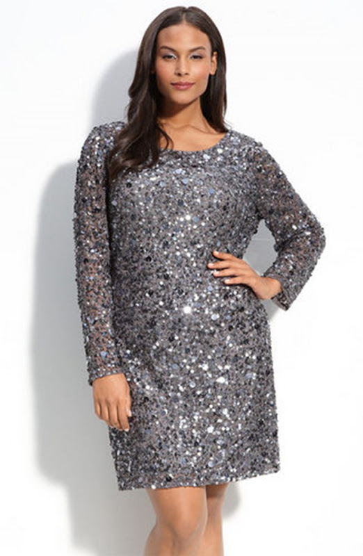 Long Sleeve Sequin Dress | Dressed Up Girl