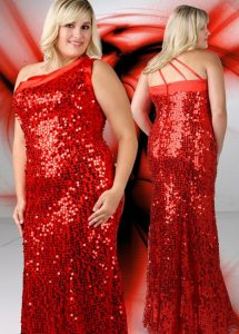 Plus Size Red Sequin Dress