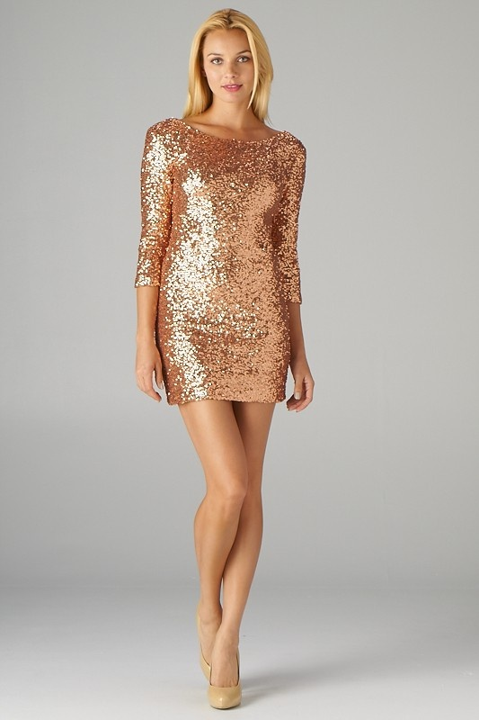 32359a8ac68a Gold Sequin Dress Picture Collection | DressedUpGirl.com
