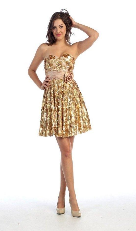 Gold Sequin Dress - Dressed Up Girl