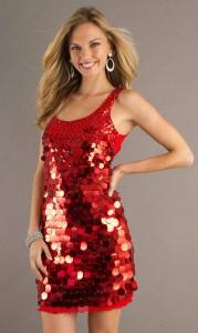 Short Red Sequin Dress
