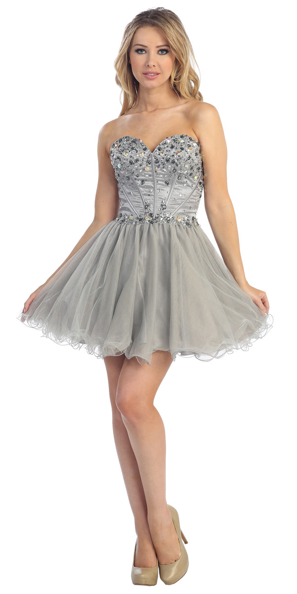 Silver Sequin Dress - Dressed Up Girl