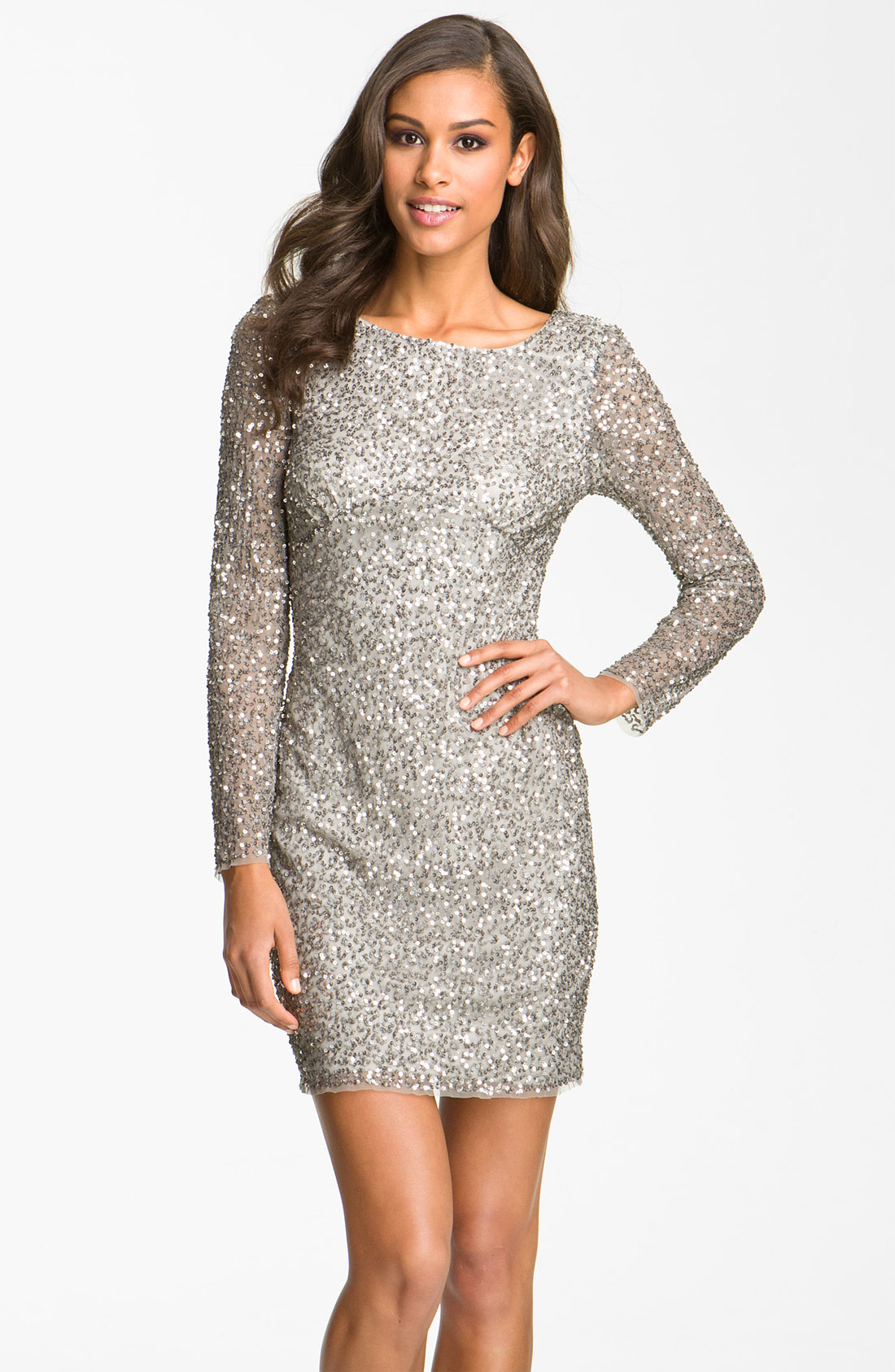 Silver Sequin Dress | Dressed Up Girl