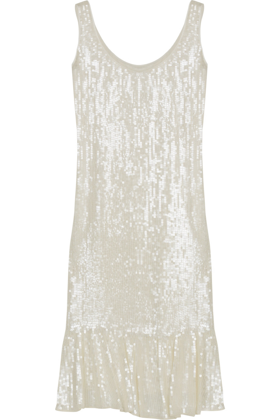 White Sequined Dress