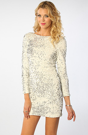 White Sequin Dress  Dressed Up Girl