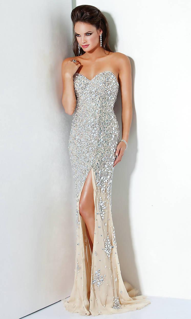 2019 New Halter V-Neck Silver Sequin Backless Prom Dress