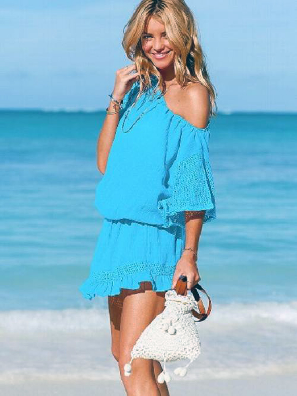 Beachy Clothing, Dresses + Sundresses. Created for all beach-loving women, all year round, FP Beach captures the spirit of coastal life in one carefree collection. These are dresses, pullovers, tops, and pants made for packing up and heading to the shore.