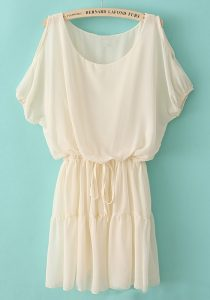 Beige Chiffon Dress