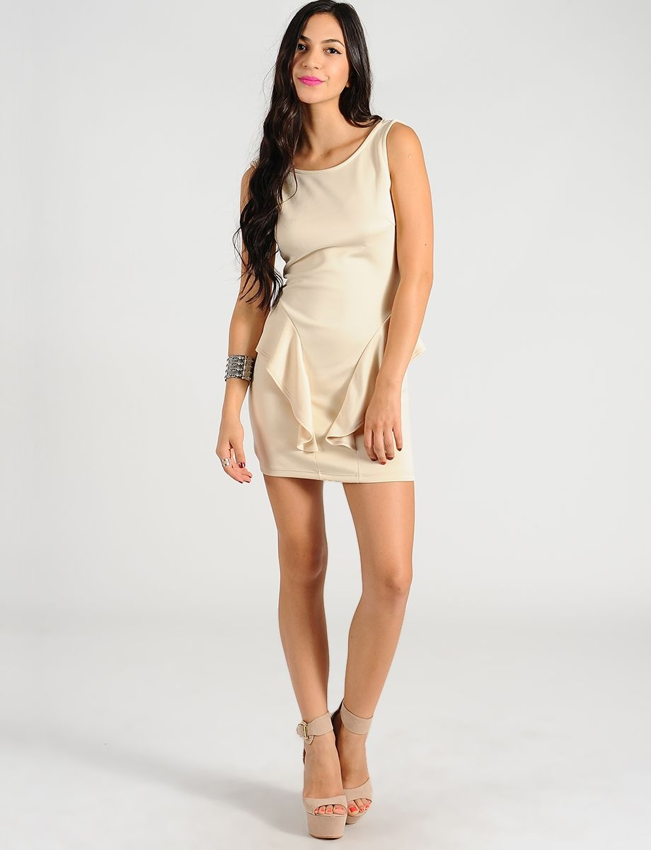 Beige Cocktail Dresses