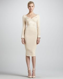 Beige Long Sleeve Dress