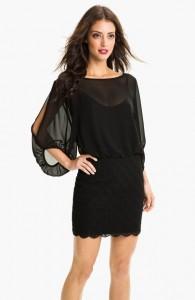 Black Blouson Dress