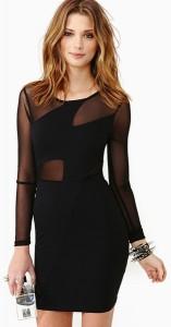 Black Dress with Mesh