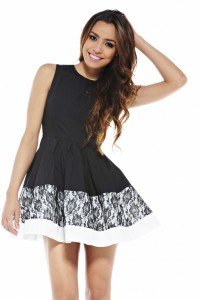 Black Fit and Flare Cocktail Dress