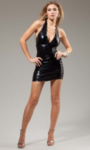 Black Leather Mini Dress