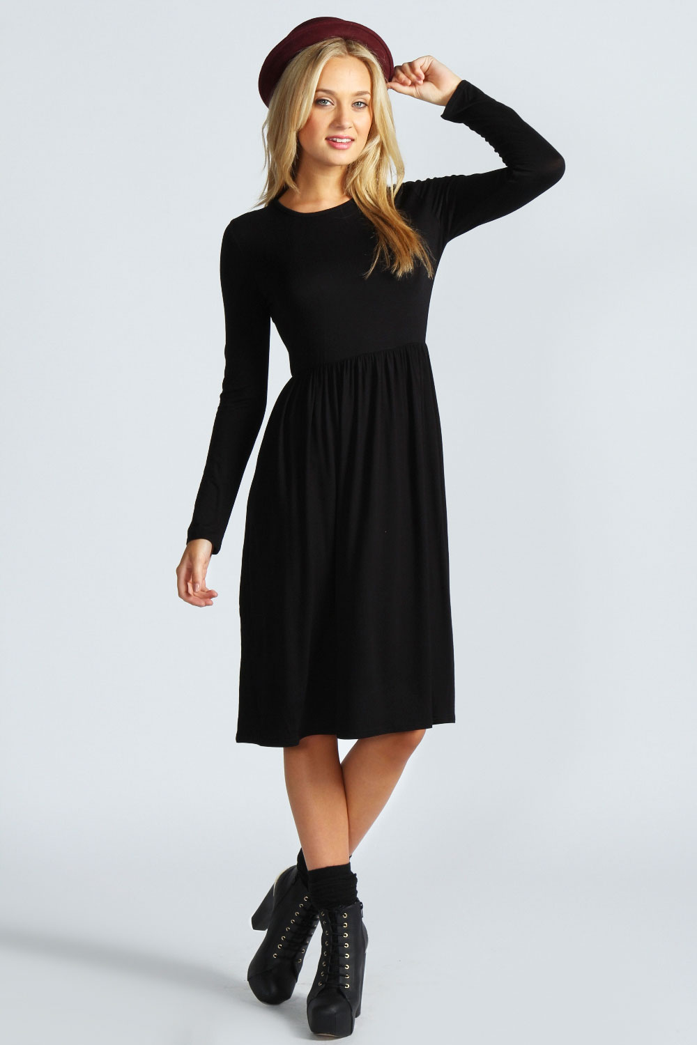 Black Dresses  Black Little Long Sleeve Mini Lace