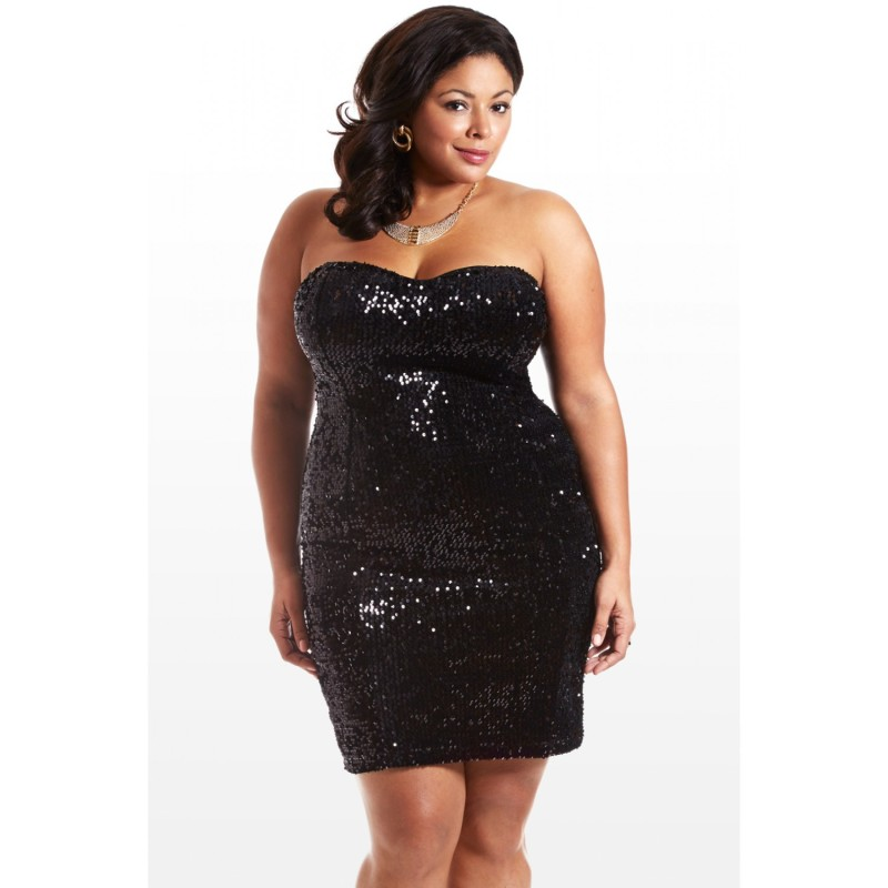 Plus Size Sequin Dress | DressedUpGirl.com