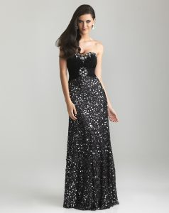 Black Sequin Prom Dress