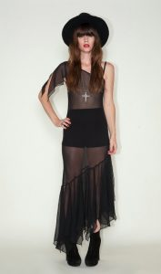 Black Sheer Maxi Dress