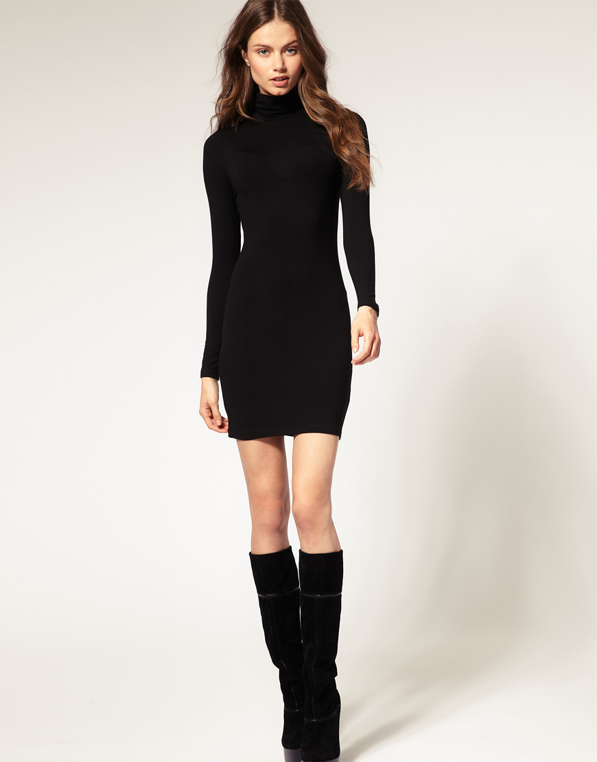 Black Turtleneck Dress
