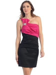 Black and Fuschia Dresses
