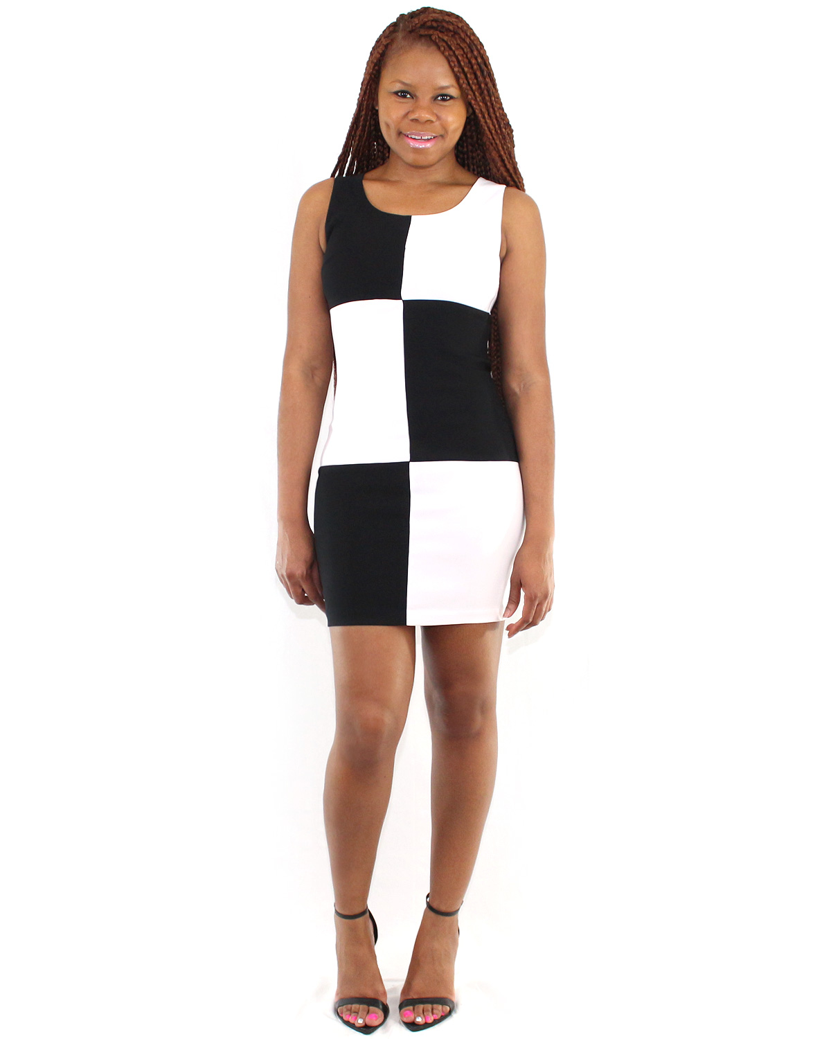 Color Block Dresses Black And White Black And White Color Block