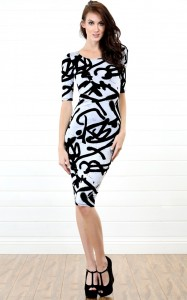 Black and White Midi Dresses