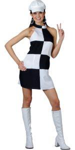 Black and White Mini Dress
