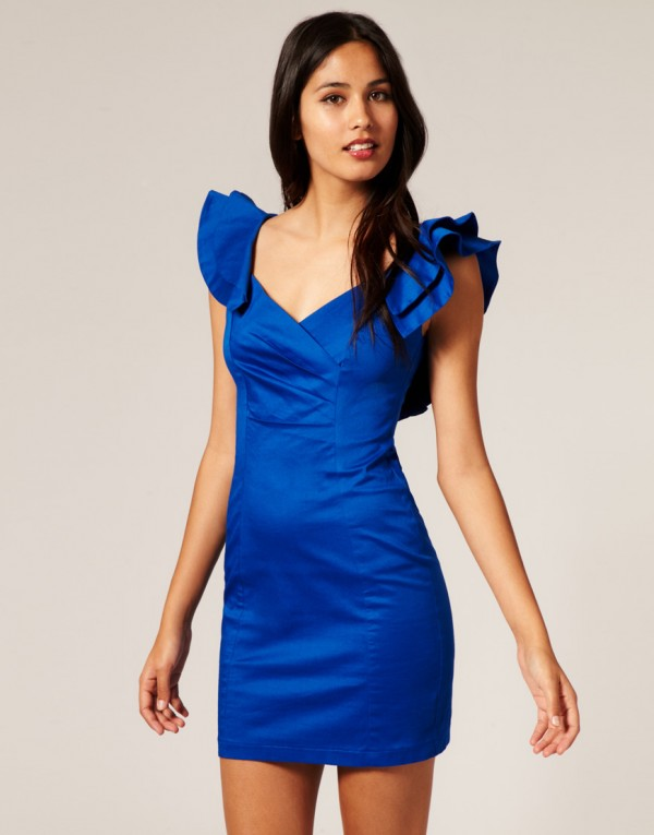 Blue mini dress - Fashion dresses