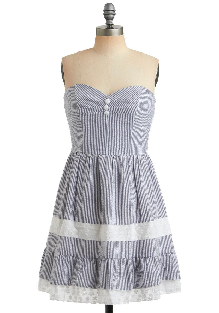 Seersucker Dress | Dressed Up Girl
