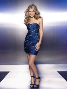 Blue Sequin Cocktail Dress