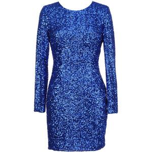 Blue Sequin Dress