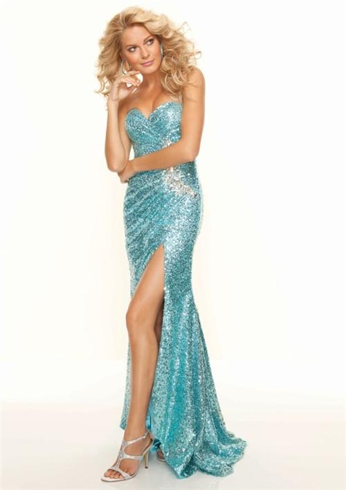 Blue Sequin Dress - Dressed Up Girl