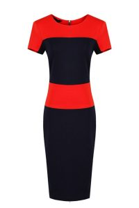 Color Block Dresses with Sleeves