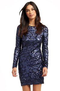 Dark Blue Sequin Dress