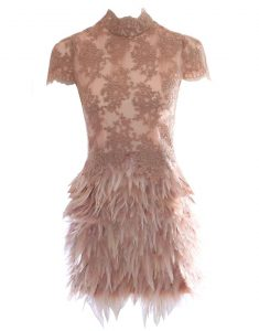 Dress with Feathers