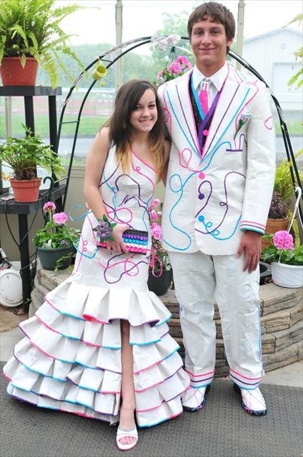 Prom dress duct tape girls