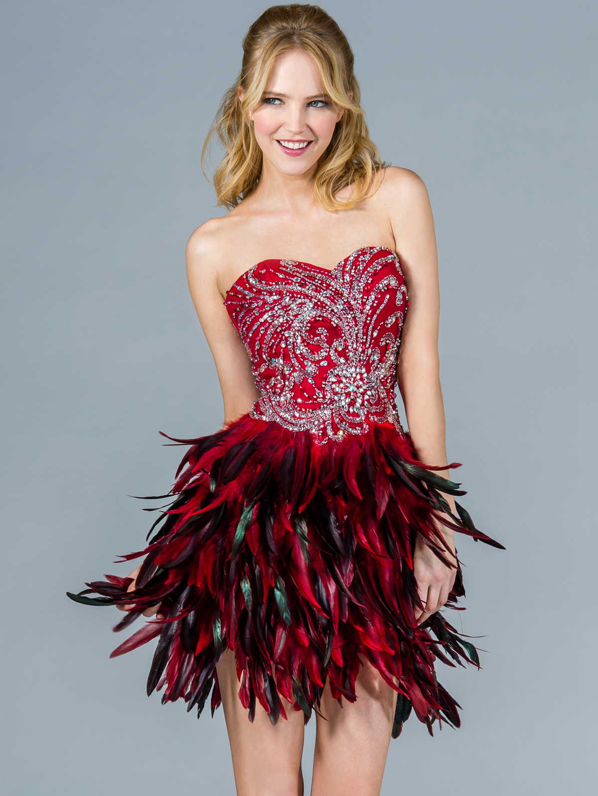 Feather Dress Picture Collection Dressedupgirl Com