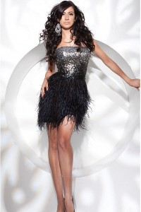 Feather Prom Dress