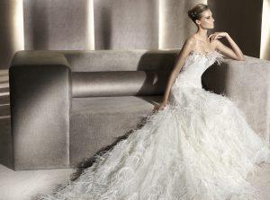 Feathered Wedding Dresses